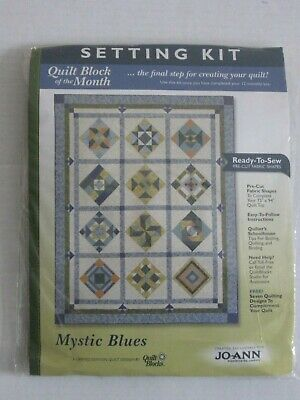 mystic blues Jo Ann Fabric QUILT BLOCKS OF THE MONTH SETTING KIT