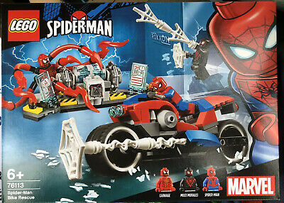 LEGO Marvel Super Heroes SPIDERMAN BIKE RESCUE Set 76113 Carnage Minifigure