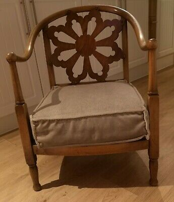 Antique 1920s Fireside nursing/ slipper chair