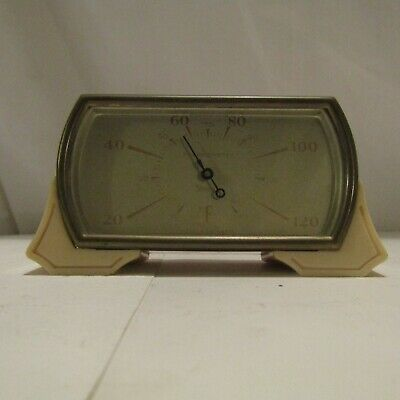 Vintage Smiths Bakelite Thermometer clock type gwo perfect cream case c1930's
