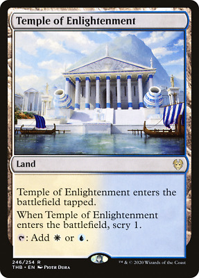 FOIL TEMPLE OF ENLIGHTENMENT x1  ~mtg NM Theros Beyond Death Rare