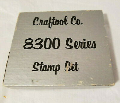 Vintage Craftool Co. 8300 Series 10 pc. Indian Stamp Set Leather Working