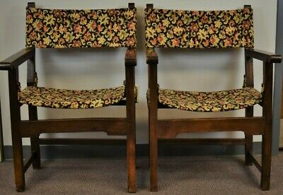 Pair of Tapestry Floral Needlepoint Armchairs