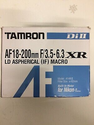 Tamron AF 18-200mm F/3.5-6.3 Di II XR LD Aspherical IF Macro Lens for Nikon D