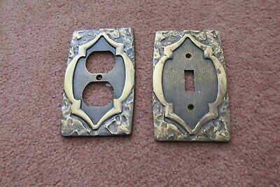 Amerock Monterey  Switch Plate & Outlet cover; Antique English / Brass Finish
