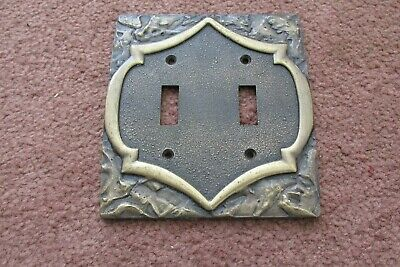 Amerock Monterey  Double Switch Plate ; Antique English / Brass Finish
