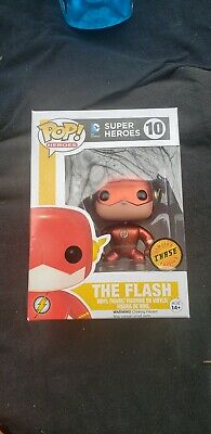 Funko Pop DC Heroes The Flash Metallic #10 LE CHASE New & Near Mint (See Photos)