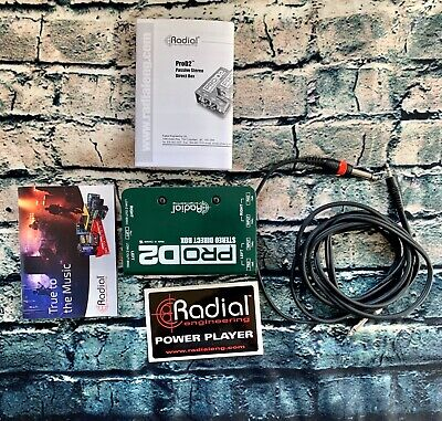 Radial Pro D2 Stereo Direct Box, 2 Channel DI for Keyboards & more w/ Box