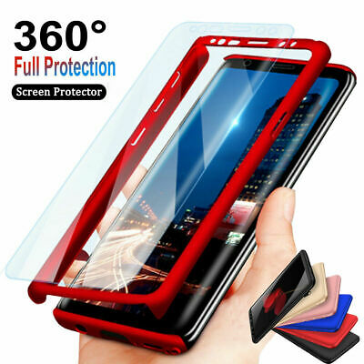 For Samsung Galaxy S8 S9 Plus S7 Edge 360° Full Body Hard Case+Screen Protector