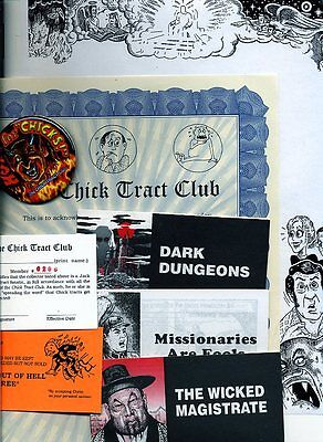 Jack T. Chick tract club kit (w/ rare tracts) Great Xmas Gift!