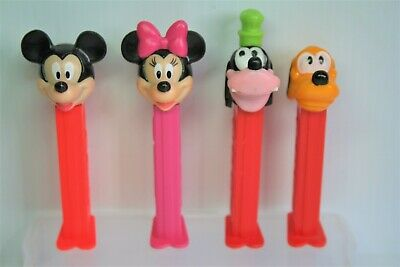 Mickey, Minnie, Goofy and Pluto Pez Dispensers