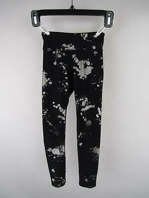 Justice Girl 6/7 Black Polyester Elastane Printed Pull-On Fitted Leggings Pants