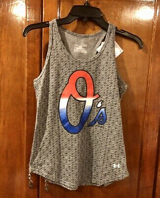 Youth Boys/Girls Under Armour Mlb Baltimore Orioles Tank Top Ylg Large Nwt