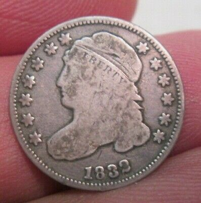 1832 U.S. Capped Bust Silver Dime VG Condition No Reserve