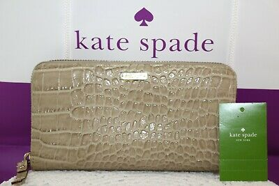 Kate Spade New York Knightsbridge LACEY Continental Wallet in Porcini MSRP $225