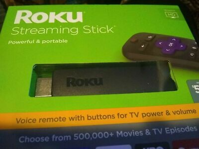 Roku Streaming Stick (6th Generation) 3800RW HDMI VUDU Edition - Black NEW 3800R