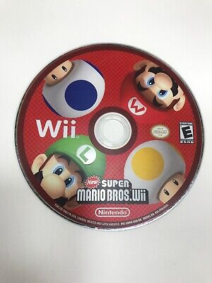 New Super Mario Bros. Wii (Nintendo Wii, 2009) Disc Only Cleaned & Tested!