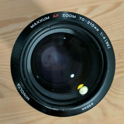 Minolta Maxxum AF Zoom 70-210mm f/4 lens for Sony A Mount with metal hood