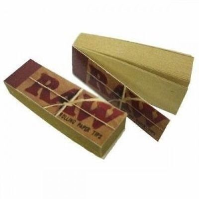 10 Packs Raw Authentic Cigarette Rolling Paper Filter Tips (50 sheets per pack)