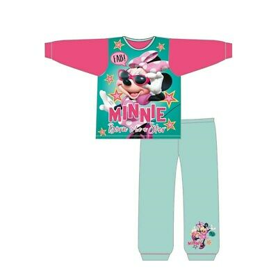 Girls Official Minnie Mouse  Pyjamas Set Size 12m - 4 Years