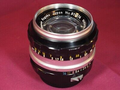 Nippon Kogaku Nikkor-S Auto 50mm f1.4 lens - non AI mount - VERY GOOD CONDITION