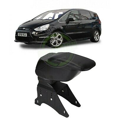 Arm Rest Centre Console Storage Box Armrest Black For Ford Fiesta Mk7 09-17 A