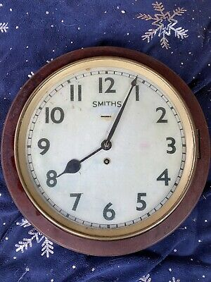 "Railway Station Style Clock ""Smiths"" - Not Working"