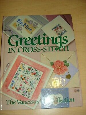 """1988 Vanessa-Ann Collection  """"Greetings In Cross Stitch"""" Pattern Book"""