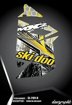 SKI-DOO XP MXZ SNOWMOBILE SLED WRAP GRAPHICS STICKER DECAL KIT 2008-2013 SA0358