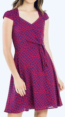 Review Sz 14 Lucky Lucy Dress Royal Blue/Dark Red - Brand New With Tags (BNWT)
