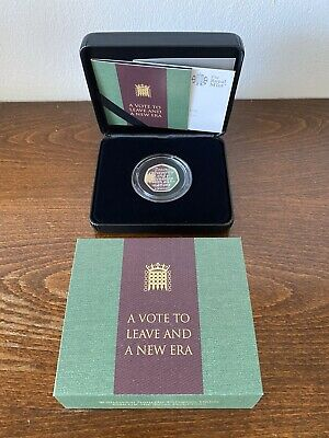 Withdrawal From The European Union 2020 UK 50p Silver Proof Coin - Brexit 50p