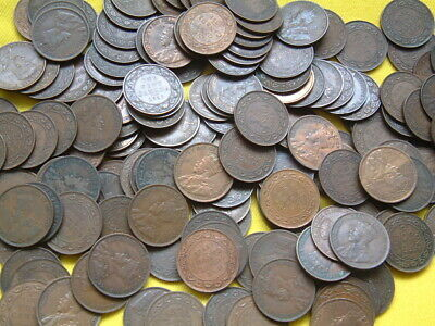 240+ Canada Large Cents  75 Edward Vii & 166 George V - Large Lot Great Shape