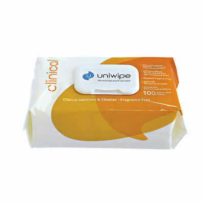 NEW! Uniwipe Clinical Wipes Pack of 100 5833
