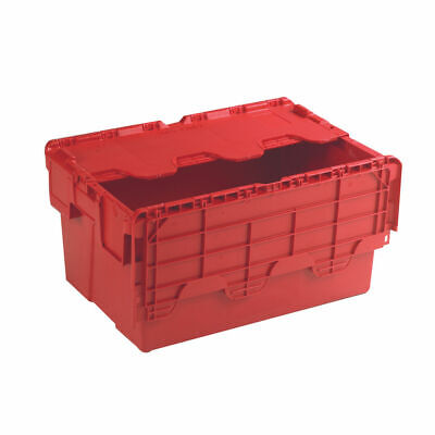 NEW! Attached Lid Container 54L Red 375816