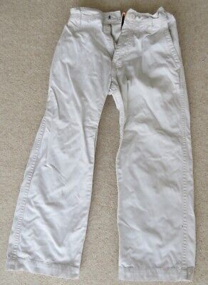 Boys TIMBERLAND Chino Cream White Trousers Age 6 Good Condition
