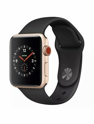 Apple Watch Series 3 38mm Space Grey Aluminium Case with Black Sport Band (GPS)