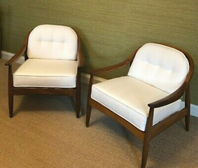 1960 Greaves & Thomas Bentwood Afrormosia Armchairs Pair of Midcentury British