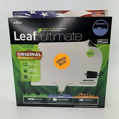 Mohu MH-004002 Leaf Ultimate Amplified Indoor HDTV Antenna New Open Box