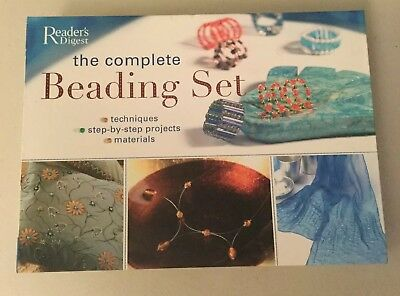 Readers Digest The Complete Beading Set Techniques Projects materials new book