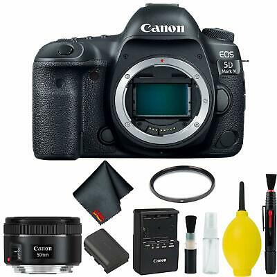 Canon EOS 5D Mark IV DSLR Camera Body Only Basic Kit (Intl Model) w/Canon EF 50m