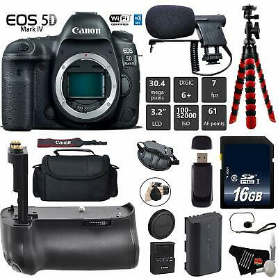 Canon EOS 5D Mark IV DSLR Camera (Body Only) + Professional Battery Grip + Conde