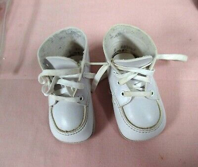 """Vintage Baby Shoes, White High Top, Size 2, """"Wee Kids"""""""