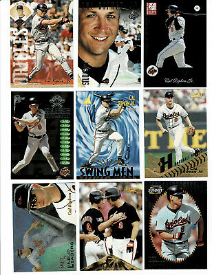 LOT OF 100 DIFFERENT CAL RIPKEN JR CARDS.  Near Mint cards most from 1989-2005