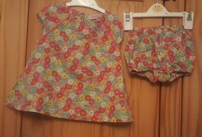 Girls floral dress pants outfit 0-6 months Cath kidston