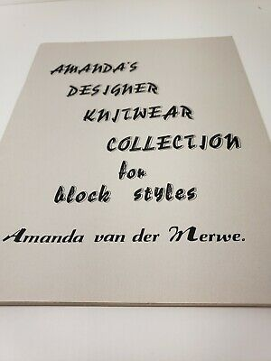 Amanda's Designer Knitwear Collection For Block Styles Passap Preowned