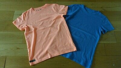 2 X Boys Next Blue & Neon Orange S'Sleeved T-Shirts, age 11 yrs