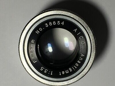 AICO Anastigmat Enlarge Lens, F:3.5, F=75mm low serial no 38854