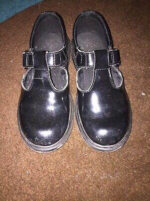 DR MARTENS Girls Mary Jane Black Patent Shoes size 1