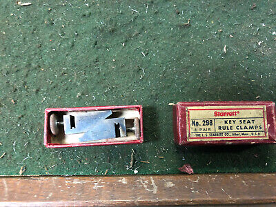 MACHINIST TOOLS LATHE MILL Starrett Set of Key Seat Rule Clamps Ruler Scale Gage
