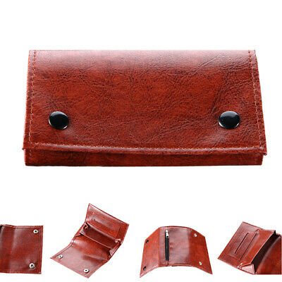 Quality Cigarette Tobacco Pouch Leather Bag Holder Wallet Filter Rolling Paper